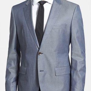 BOSS HUGO BOSS 'The Keys' Trim Fit Cotton Blazer